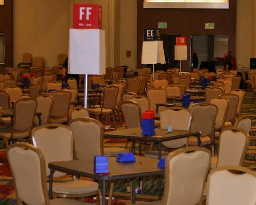 bridge tournament room